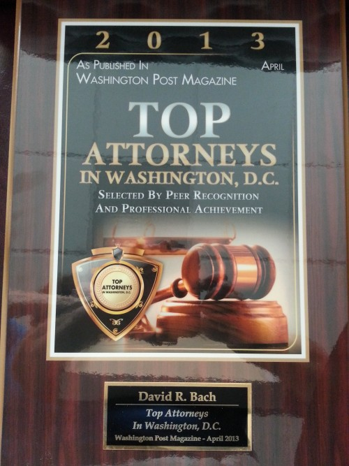 Top Attorney in DC 2013