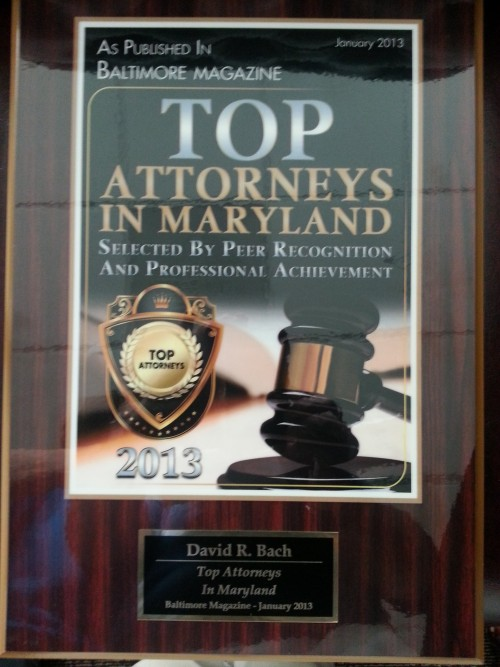 Top Attorney in Baltimore 2013